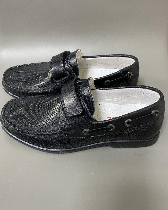 Туфли из натуральной перфорированной кожи