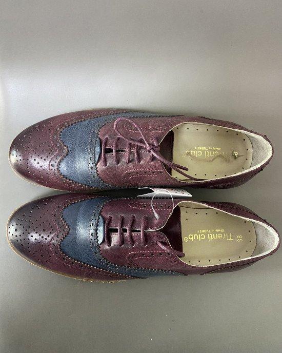 Туфли из натуральной кожи на шнурках