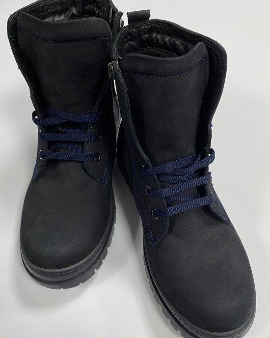 Ботинки из натуральной кожи (нубук) с бархатной подкладкой внутри