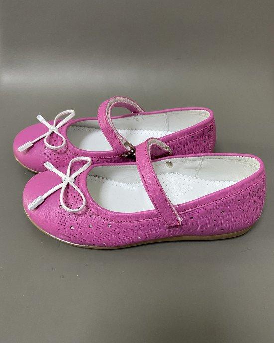 Туфли - балетки цвета фуксии с ортопедической стелькой