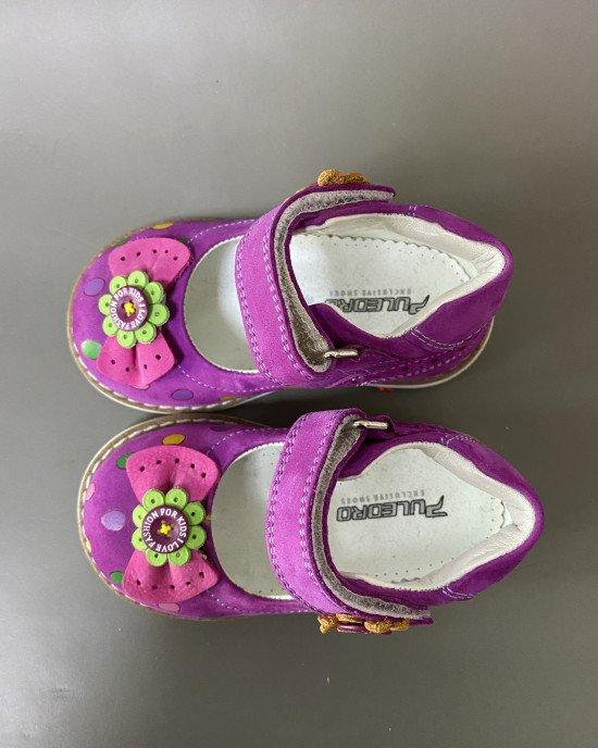Туфли ортопедические на липучке в горошек