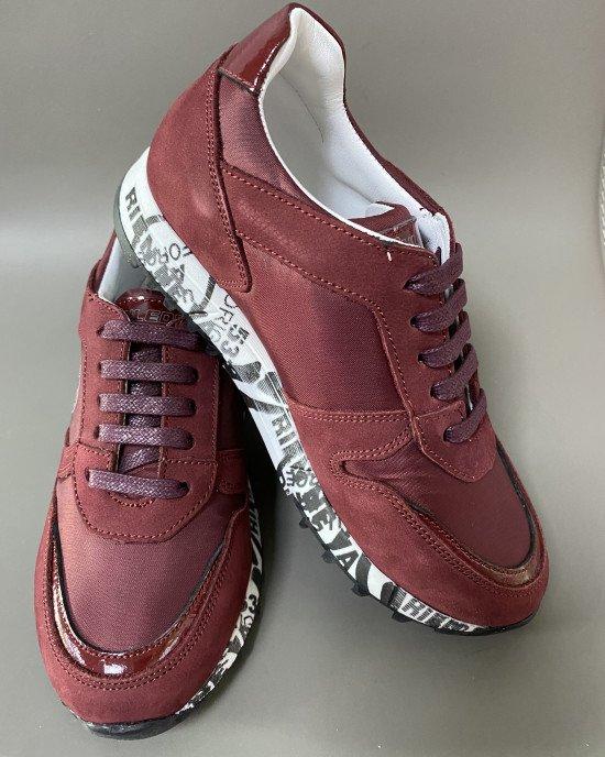 Кроссовки из натуральной кожи ортопедические на шнурках