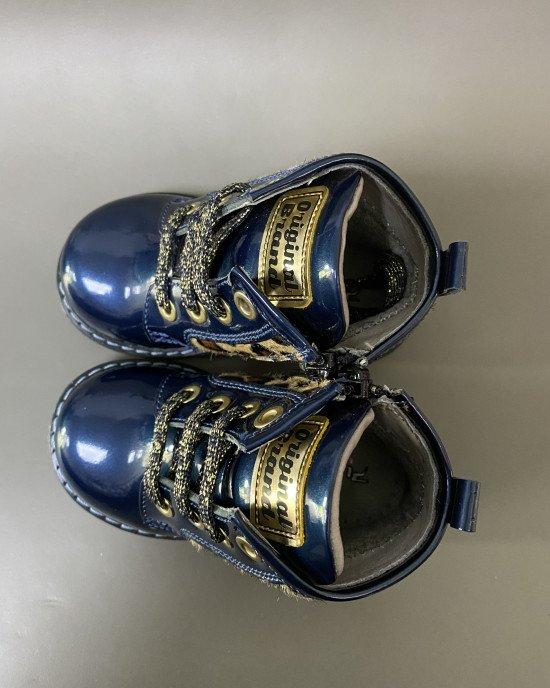 Ботинки демисезонные ортопедические из лаковой кожи