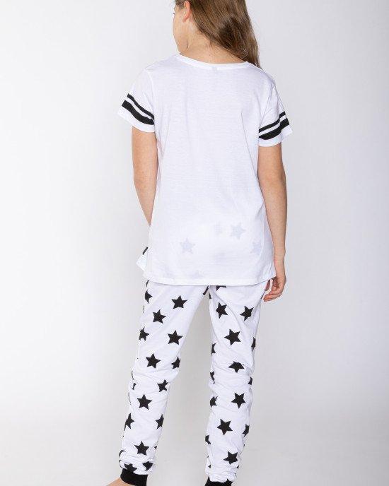 Пижама белая в принт