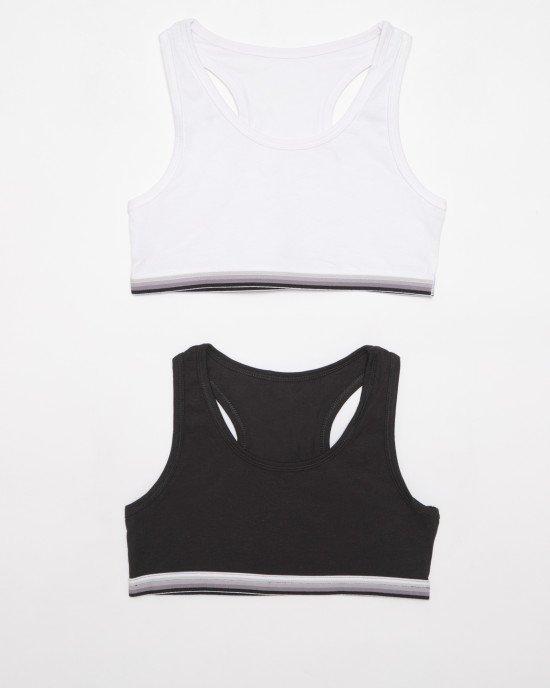 Топ (2 шт) белого и черного цвета