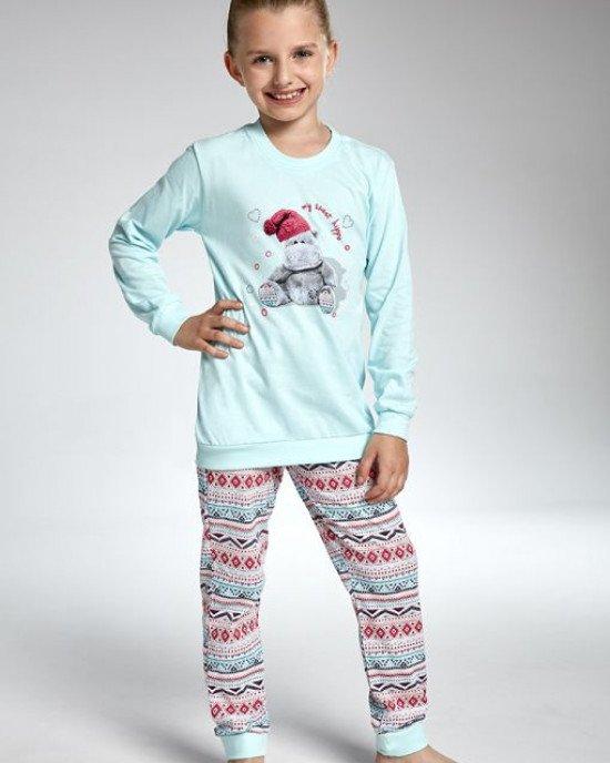 Пижама бирюзового цвета с цветным рисунком