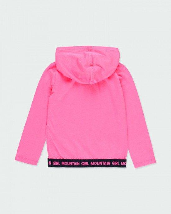 Худи розового цвета в принт