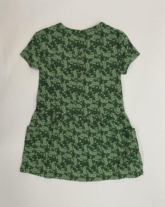 Платье летнее зеленого цвета в мелкий цветочный принт