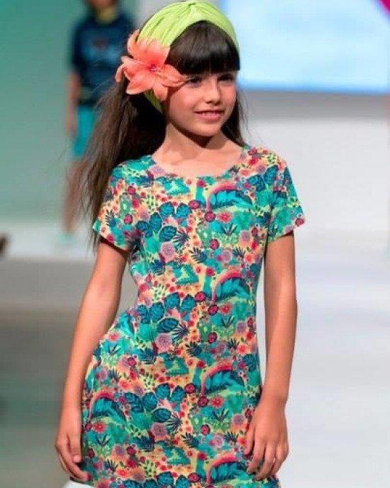 Платье Chic с открытой спиной в цветочный принт