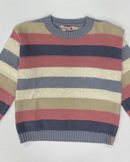 Джемпер в многоцветную полосу