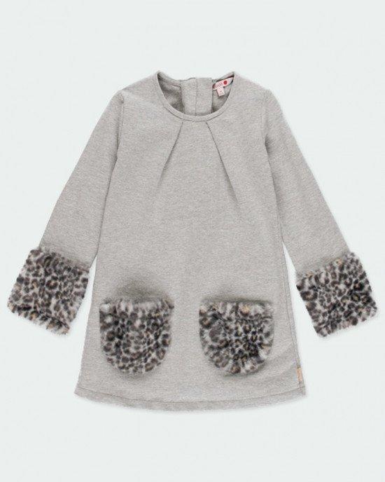 Платье Chic утепленное с декором из искусственного меха