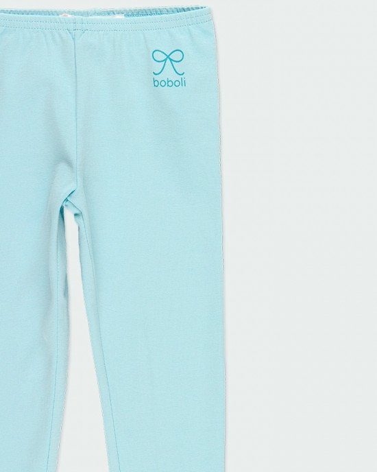 Лосины голубого цвета с логотипом boboli