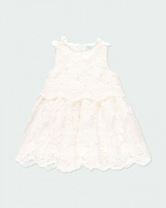 Платье Chic кружевное бледно - кремового цвета