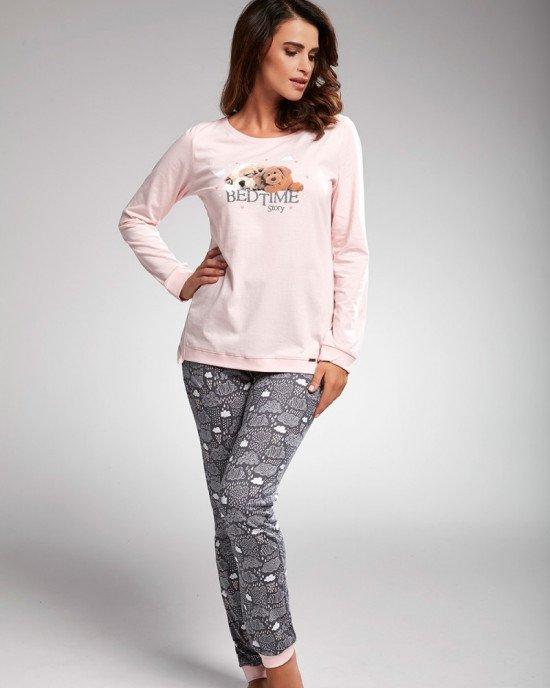 "Пижама (реглан + брюки) серо-розового цвета ""Bedtime story"""