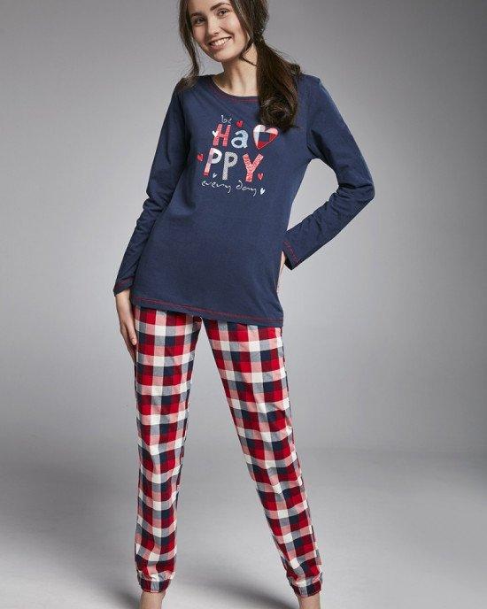 Пижама (реглан + штаны) сине - красного цвета