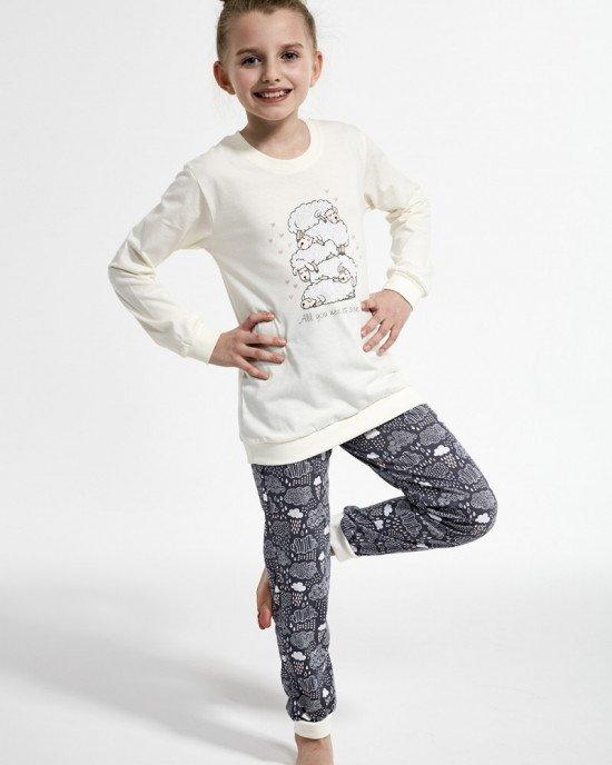 """Пижама серо - кремового цвета с принтом """"Sheep"""""""