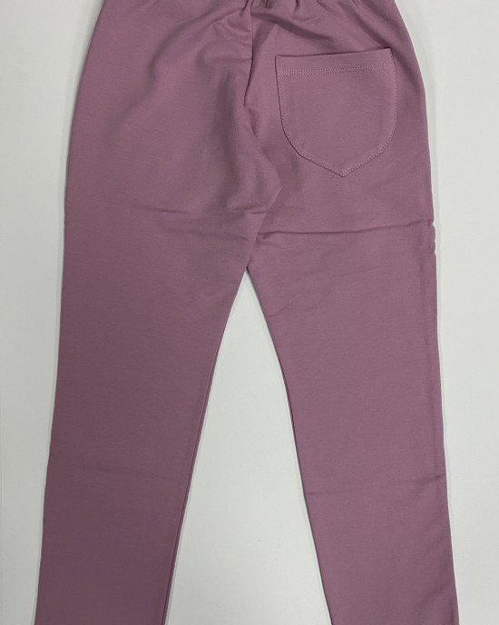 Штаны спортивные утепленные розового цвета