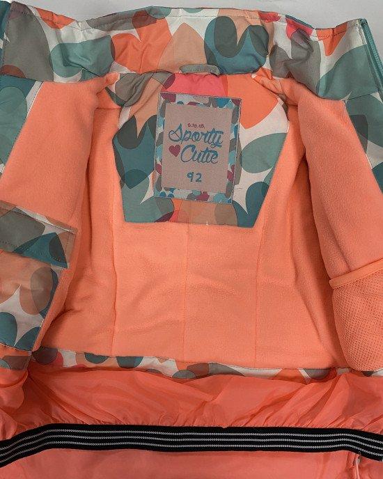 Куртка зимняя (термо) в цветной принт