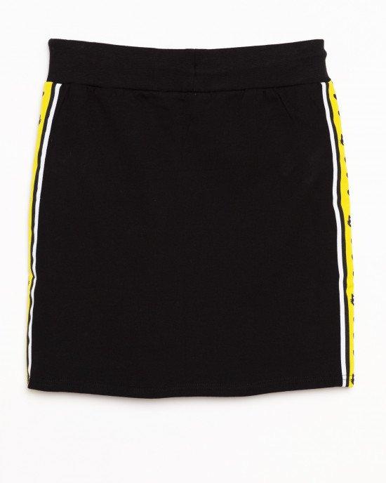 Юбка черная с желтыми лампасами