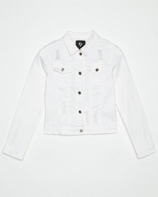 Куртка джинсовая кремового цвета