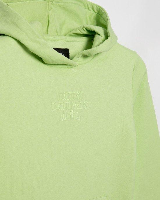 Худи светло-зеленого цвета с утеплением