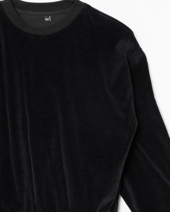 Свитшот велюровый черного цвета