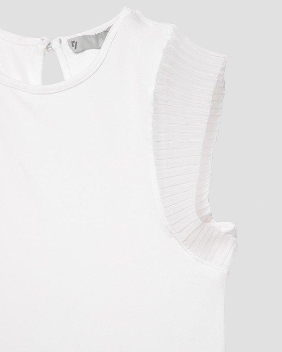 Футболка - блузон белого цвета