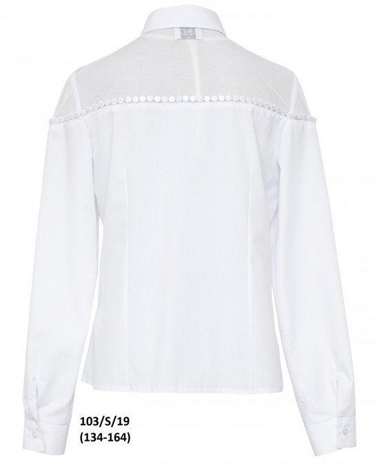 Блуза с длинным рукавом и сетчатым верхом