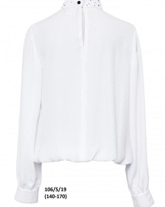 Блуза с декором на воротнике