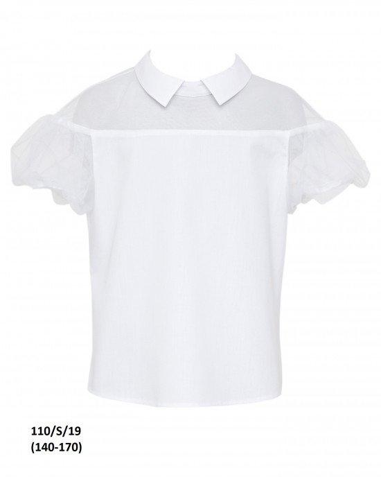 """Блуза с коротким рукавом """"фонарик"""""""