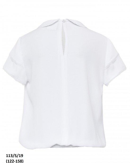 Блуза с коротким рукавом без пуговиц
