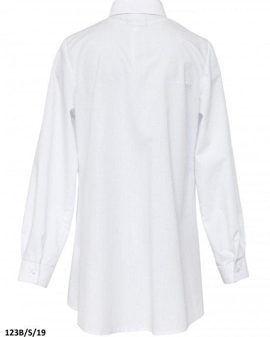 Блуза на пуговицах с вышитыми элементами