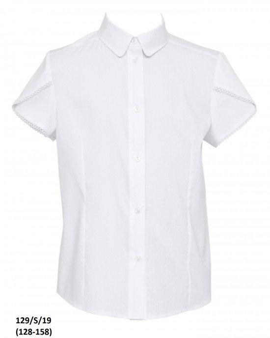 Блуза на пуговицах с коротким рукавом