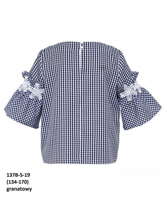 Блуза с декоративными элементами на рукавах