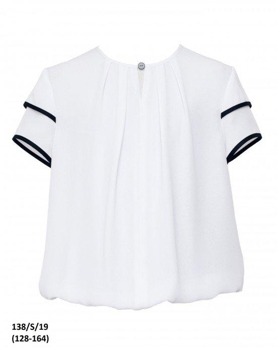 Блуза с коротким рукавом и резинкой внизу
