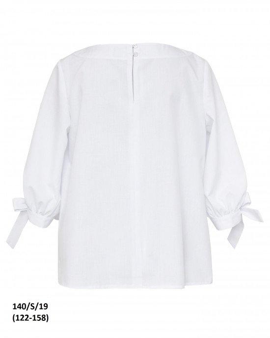 Блуза с рукавом 3/4 без воротника