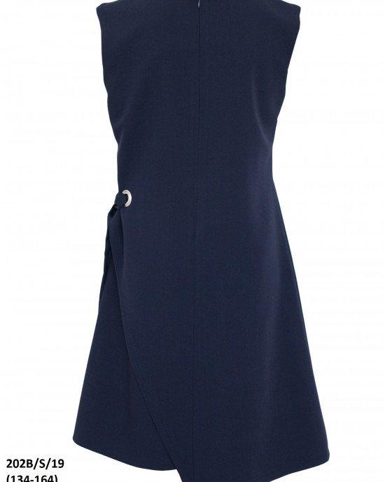 Платье-сарафан школьный с асимметричным кроем