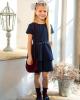 Платье школьное с ремешком и воланами