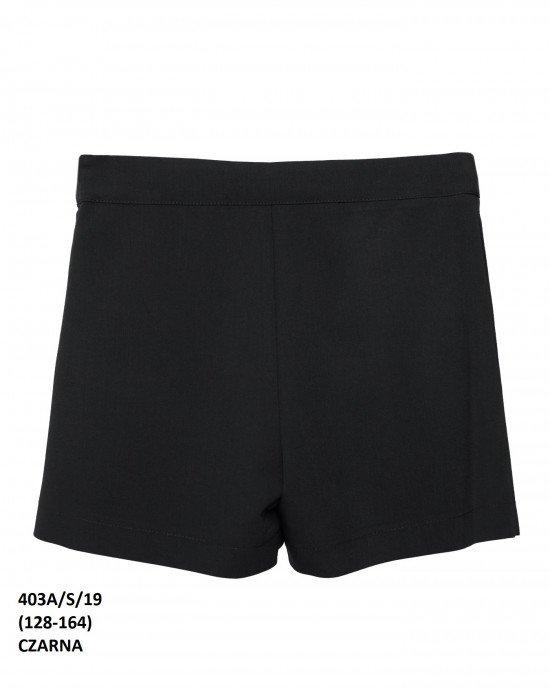 Шорты - юбка черного цвета
