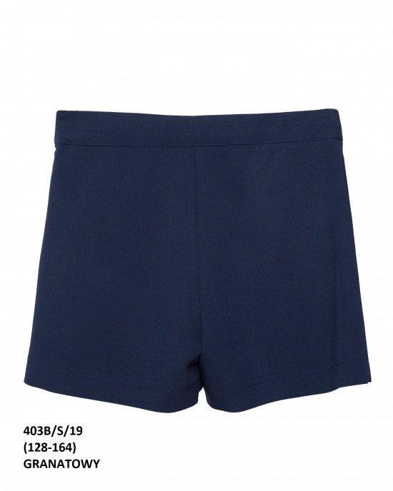Шорты - юбка синего цвета