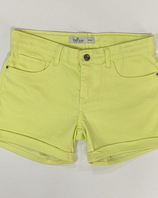 Шорты джинсовые Regular лимонного цвета