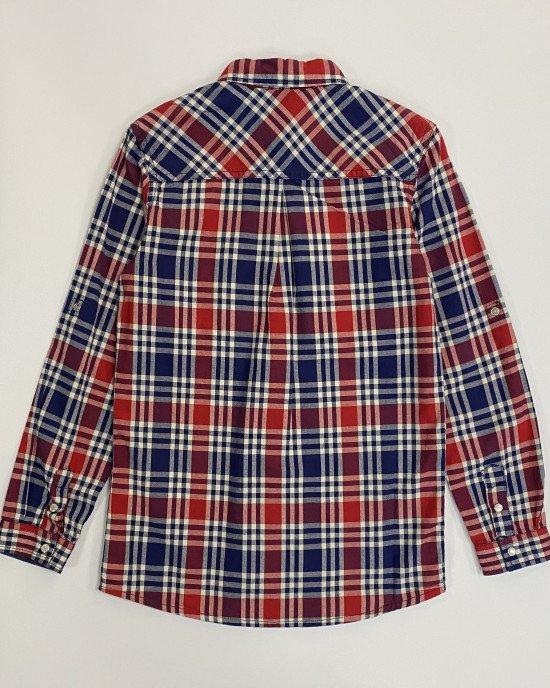 Рубашка в красно - синюю клеточку