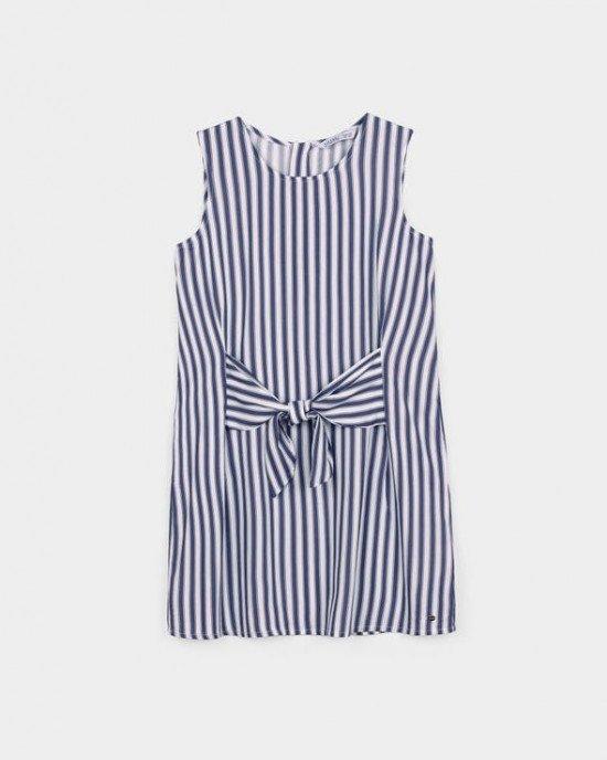 Платье - сарафан в бело - синюю полосу