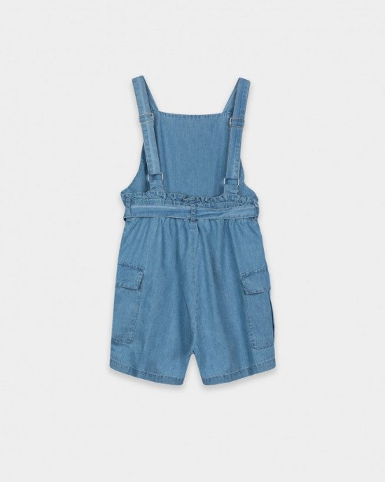 Комбинезон голубого цвета с шортами карго