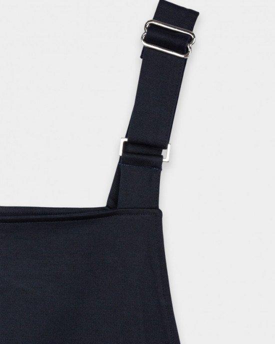 Комбинезон синего цвета с карманами