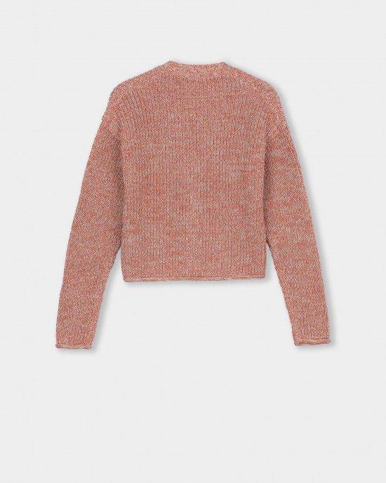 Кардиган укороченный, розово - бежевого цвета