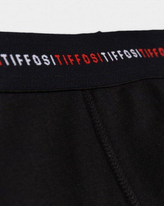 Трусы - боксеры черного цвета с широкой черной резинкой