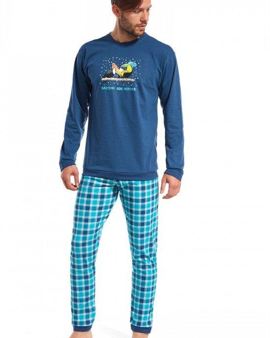 "Пижама темно-синего цвета с принтом ""Toucan"""