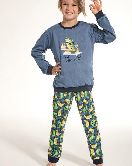 Пижама синего цвета в принт