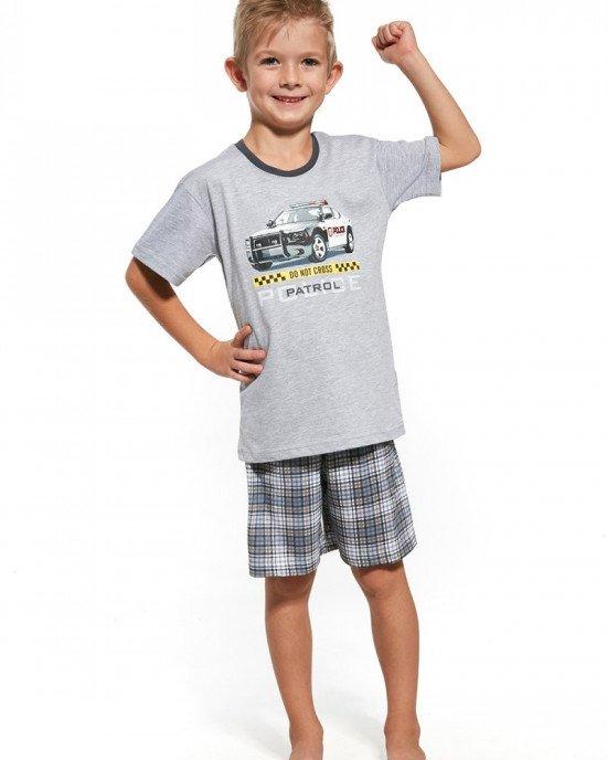 """Пижама (футболка + шорты) серого цвета в принт """"Patrol"""""""